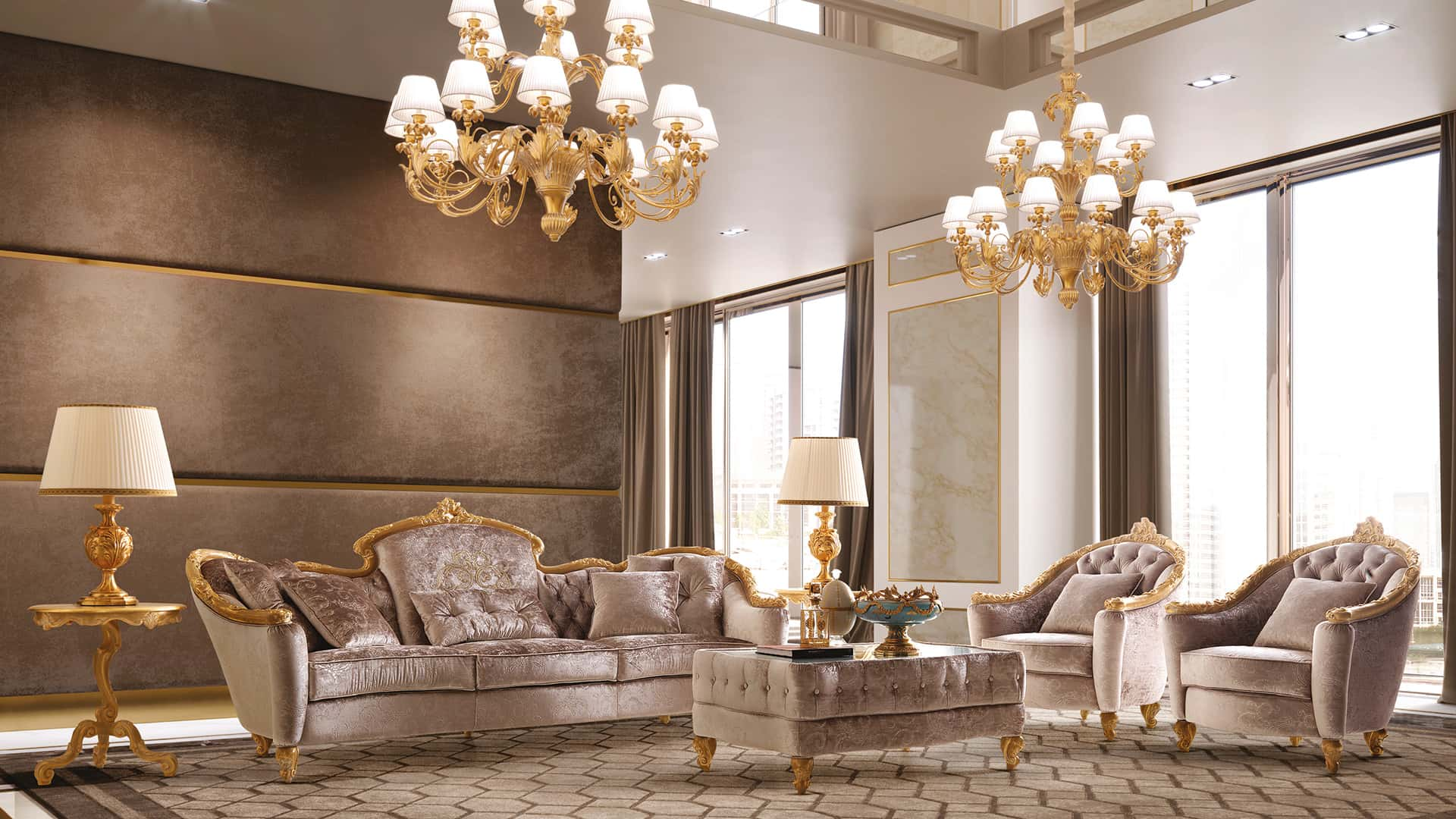 Classic Italian luxury chandeliers for hall, kitchen, living