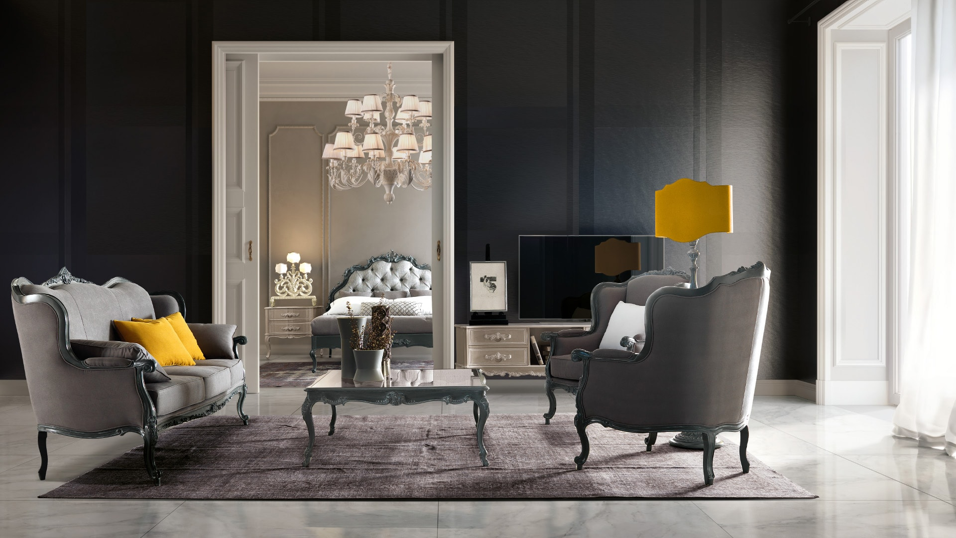 Dining Room Furniture. Living Room. Exclusive Italian Style